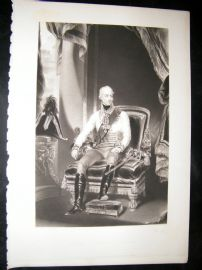 After Thomas Lawrence 1837 Mezzotint Portrait. Francis, 1st Emperor of Austria
